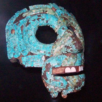 Máscara de Tlaolc o Quetzalcoatl. Foto tomada en visita al British Museum en 2009